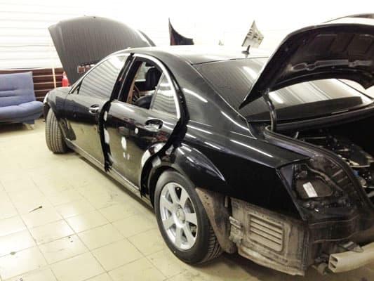 Фото ремонта кузова Mercedes