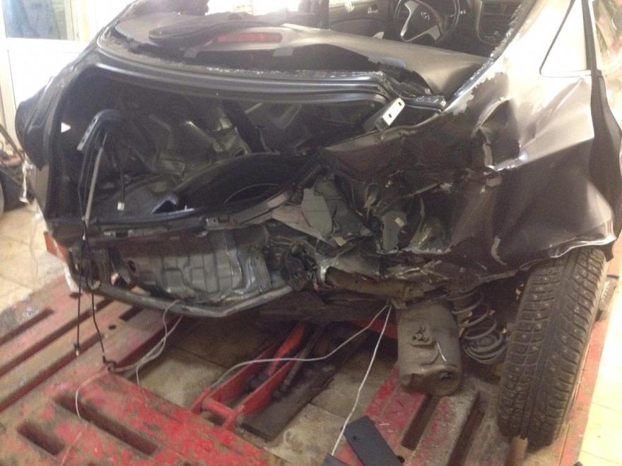 Фото Hyundai до кузовного ремонта