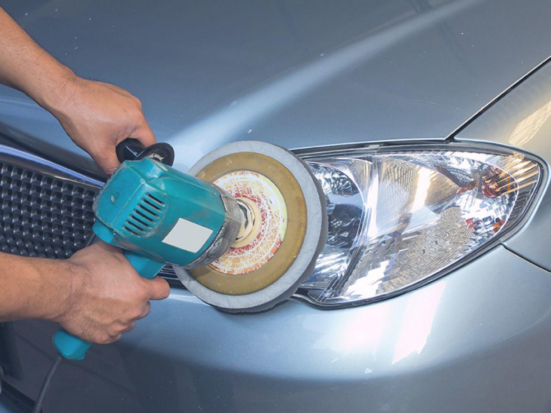 фото полировка фар автомобиля в курске