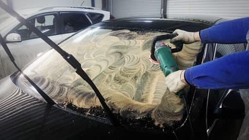 фото полировка автостекла
