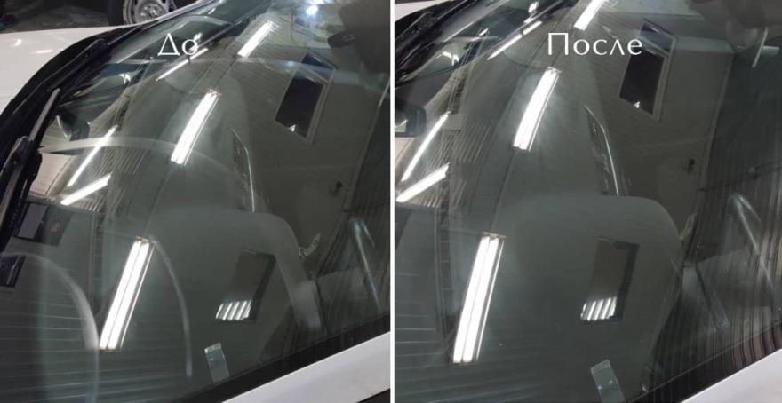 фото авто после полировки стекла